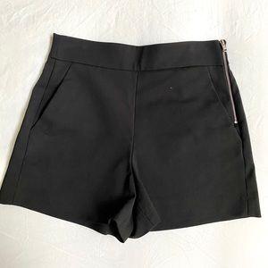 High waist Zara shorts with side zipper